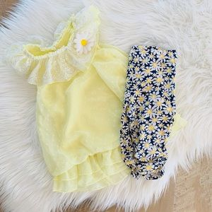 GIRLS Nannette Baby Yellow Daisies Outfit